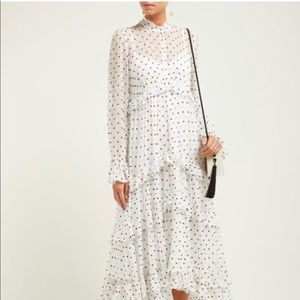 Zimmermann Zippy Tiered Polka Dot Midi Dress
